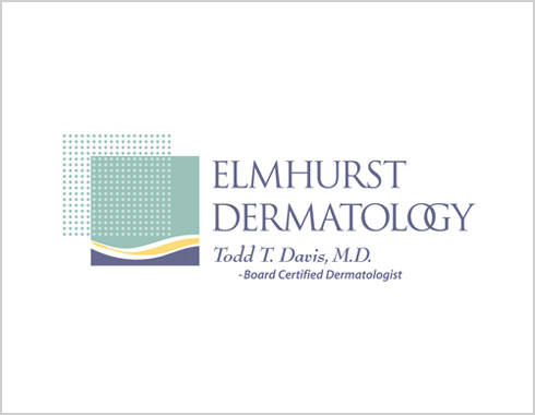 Elmhurst Dermatology logo designed by Carol Reifsteck