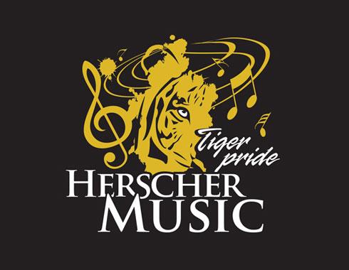 Herscher music boosters logo design by Carol Reifsteck