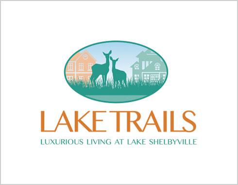 Lake Trails logo design by Carol Reifsteck