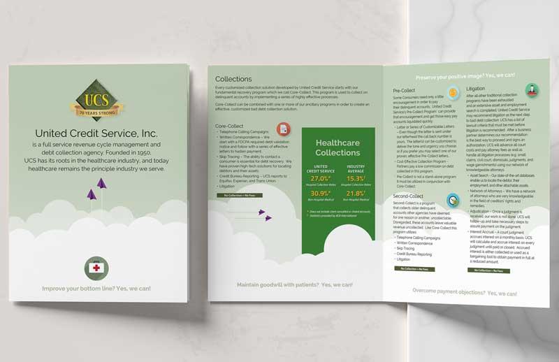 print graphic design brochure sample UCS