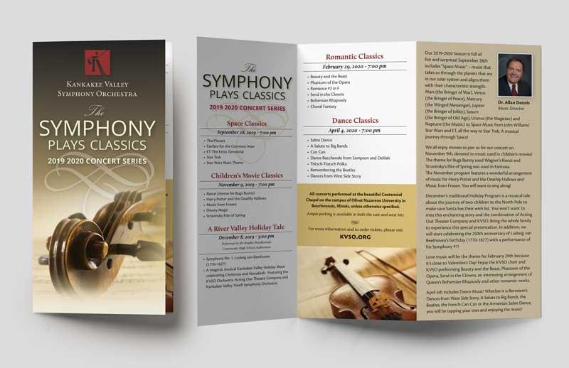print graphic design brochure sample KVSO