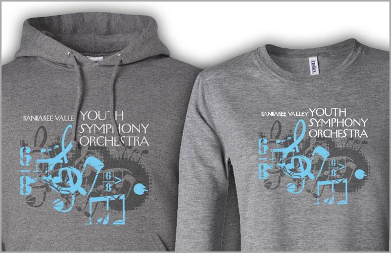 screenprinted tshirts and hoodies for KVYSO