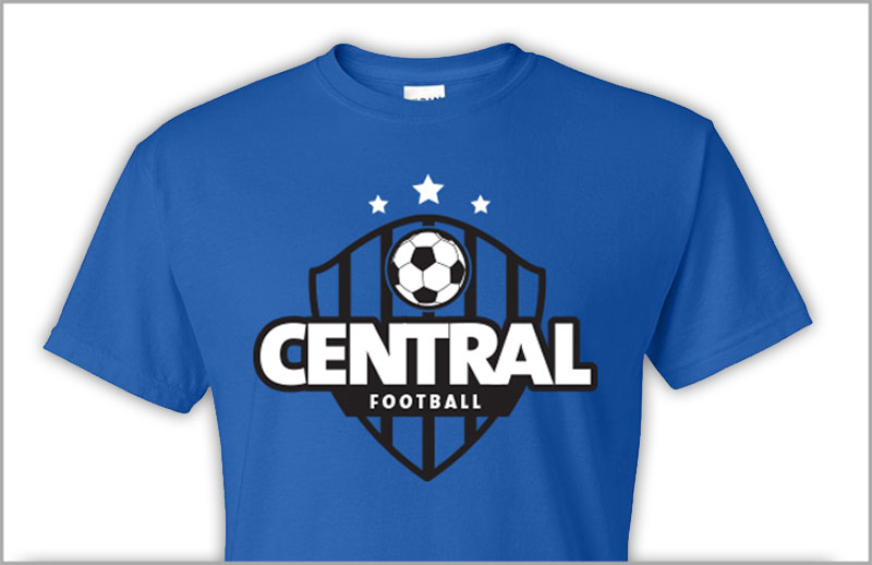 screenprinted tshirt for central