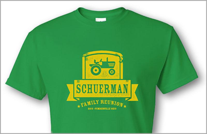 reifsteck screenprinted tshirt schuerman reunion