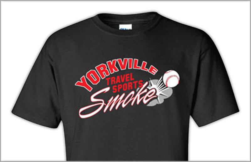 screenprinted baseball jersey for smoke