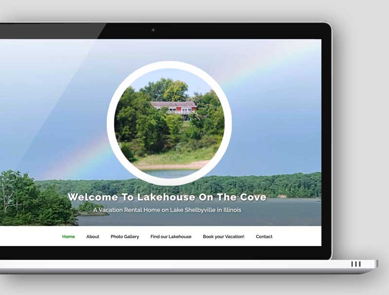 wordpress web design - Shelbyville lakehouse homepage image